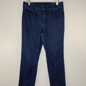 NYDJ Dark Wash Jeans 8 Straight Leg